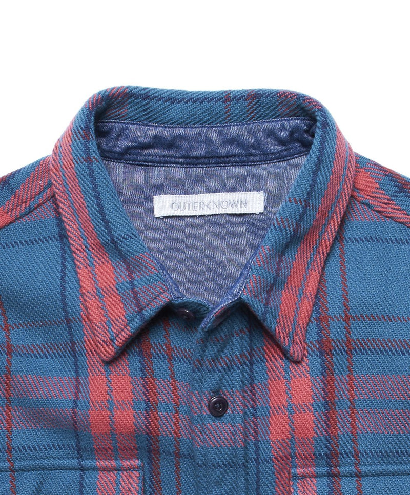 Outerknown- Blanket Shirt- Teal Bayview