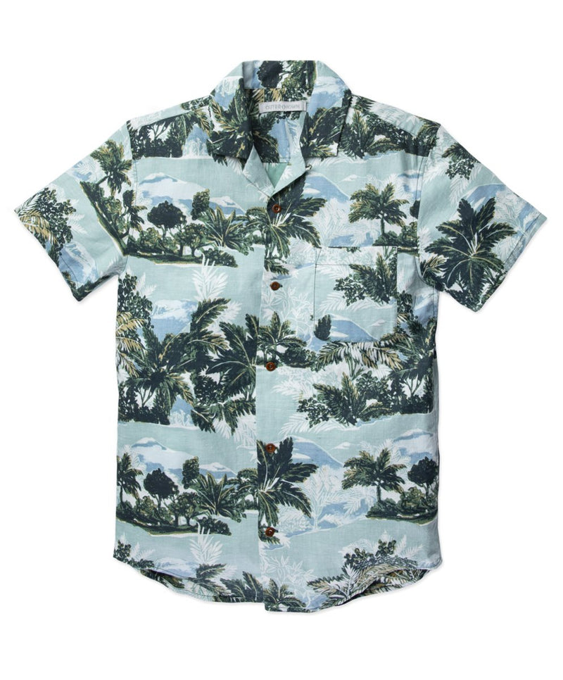 Outerknown- BBQ Shirt- Blue Windy Palms