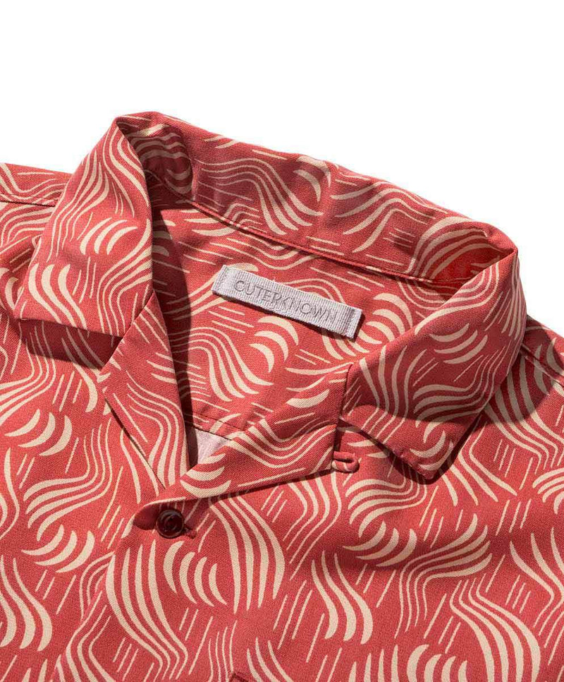 Outerknown- BBQ Shirt- Faded Red Cloudbreak