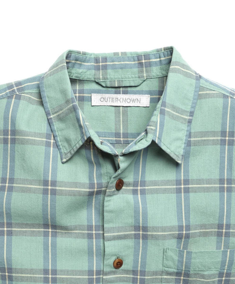 Outerknown- Beach Comber Shirt- Pond Illusion Plaid