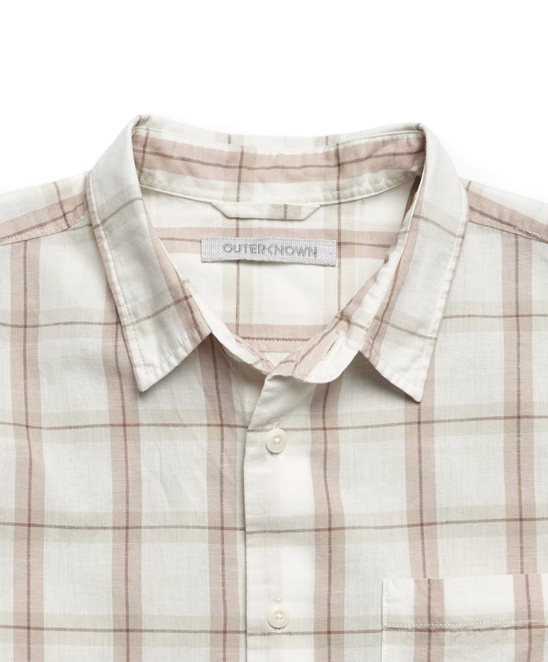 Outerknown- Beach Comber Shirt- Salt Illusion Plaid
