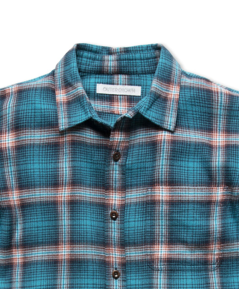 Outerknown- Transitional Flannel Shirt- Nile Blue Marin Plaid