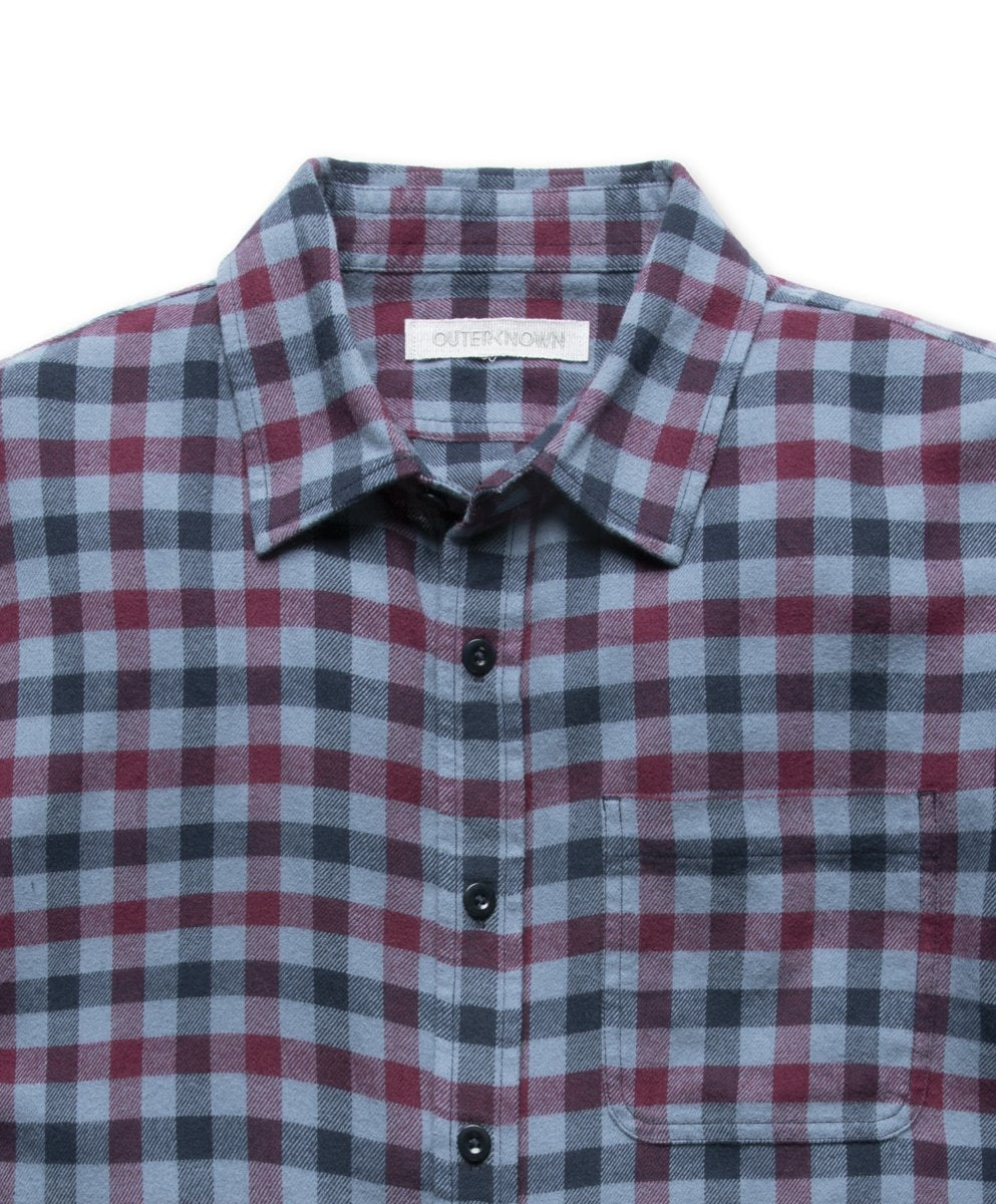 Outerknown- Transitional Flannel Shirt- French Blue Ashbury Plaid