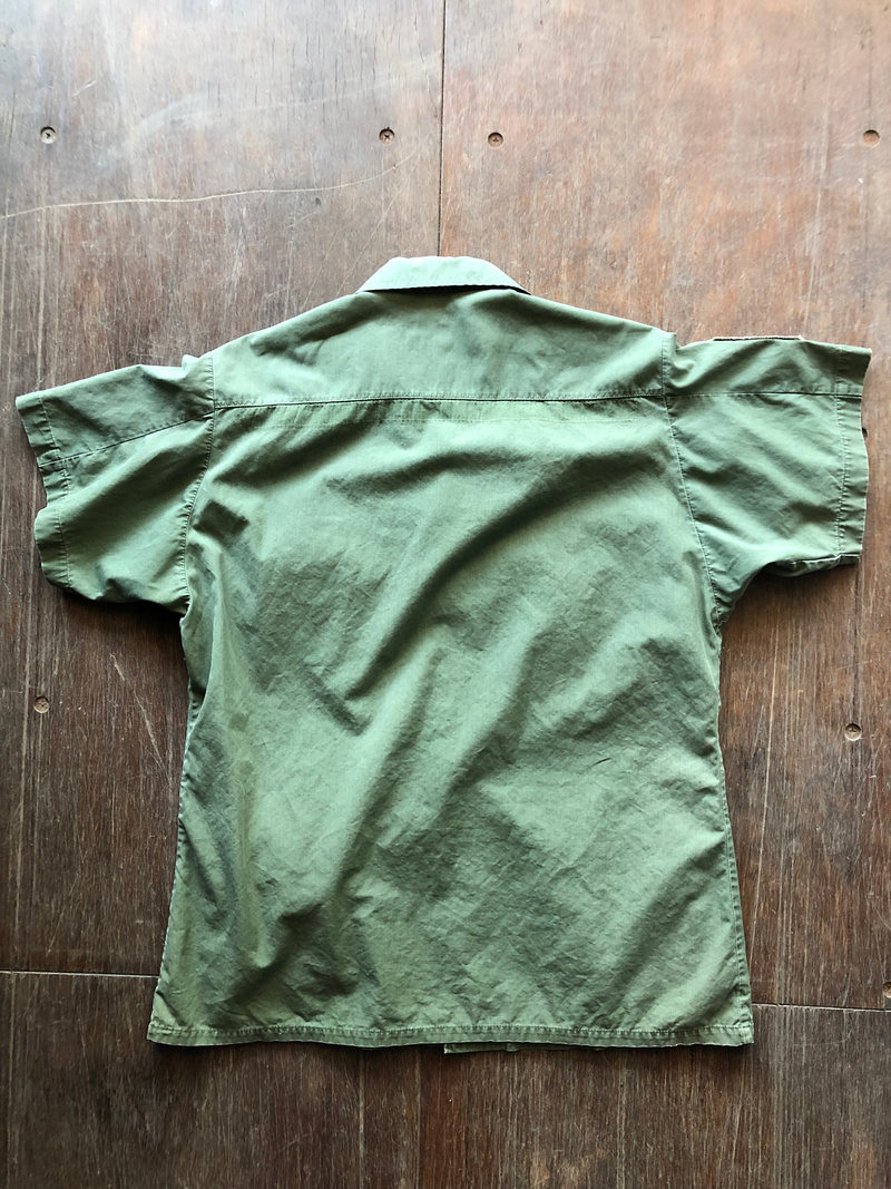 Camp Creek Vintage- 1969 OG-107 Slant Pocket Jungle Shirt Vietnam Era