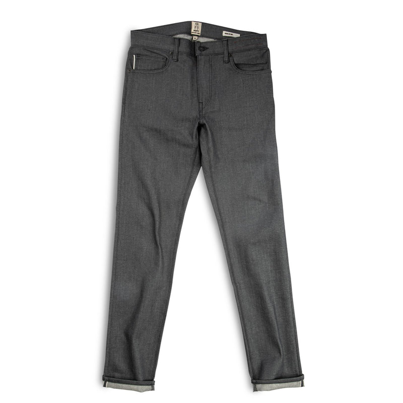 "Kato- ""THE PEN"" SLIM JEANS - GRAY RAW 10.5OZ"