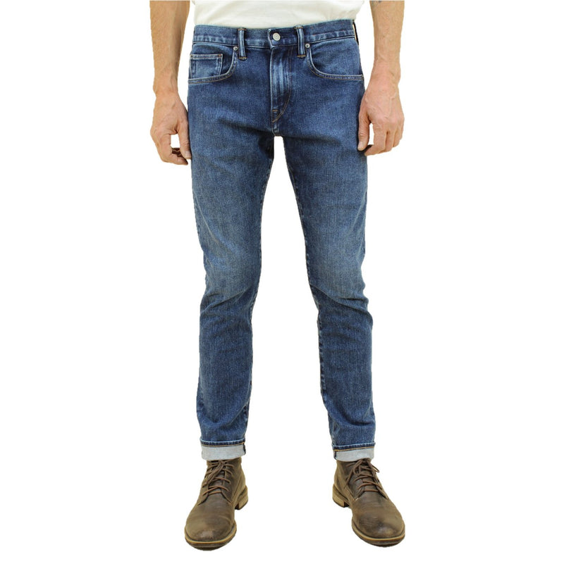 "Kato- ""THE SCISSORS"" SLIM TAPERED JEANS- EARTH 10.5OZ"