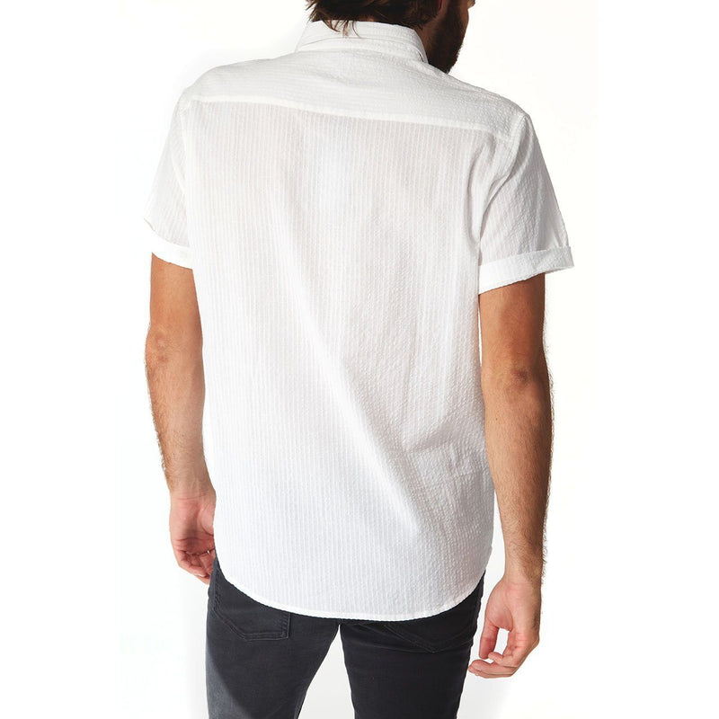 PX Clothing- White Striped Shirt