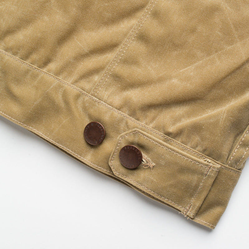 Freenote Cloth- Riders Jacket Tabacco Waxed Canvas