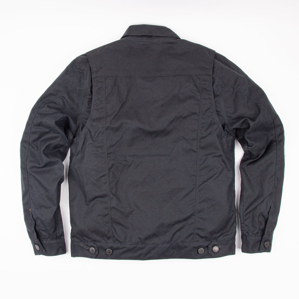 Freenote Cloth- Riders Black Jacket Waxed Canvas