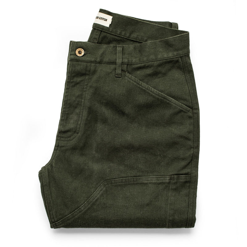 Taylor Stitch Chore Pant- Olive Boss Duck