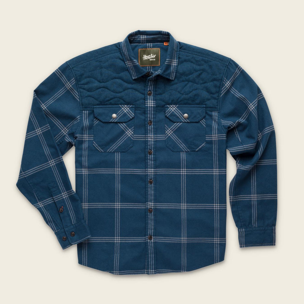 Howler Brothers- Quintana Quilted Flannel- Middy Blue