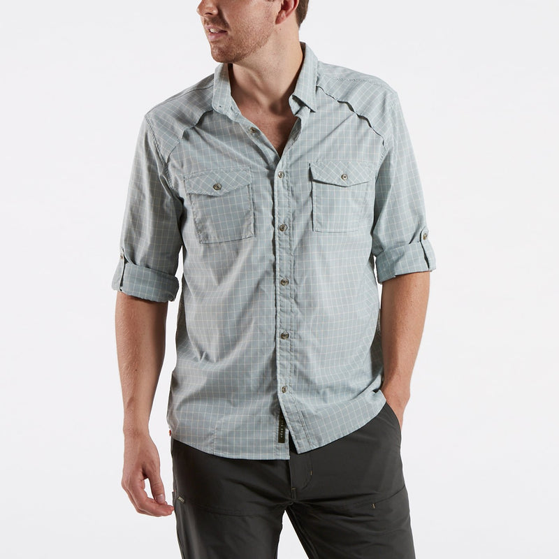 Howler Brothers- Firstlight Tech Shirt- Dawn Blue