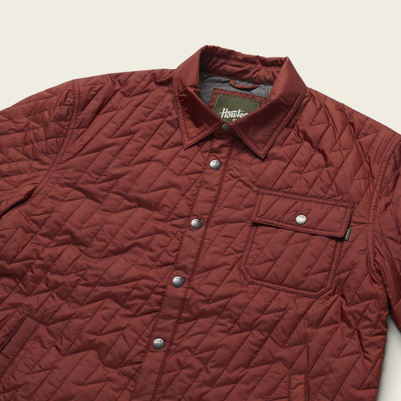 Howler Brothers- Lightning Quilted Jacket- Terracotta