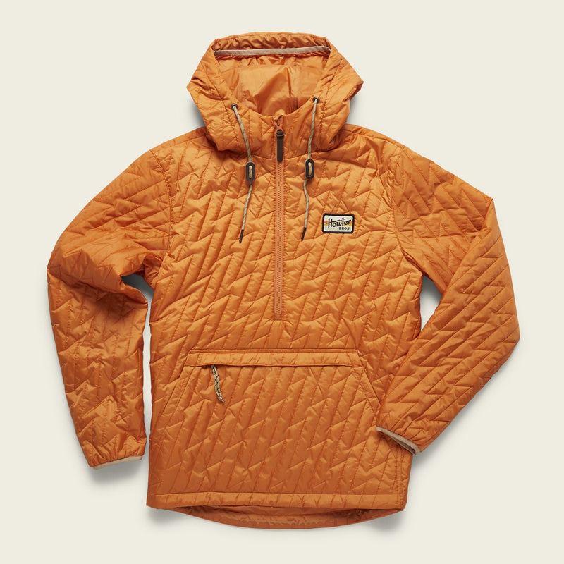 Howler Brothers- Voltage Quilted Pullover- County Orange