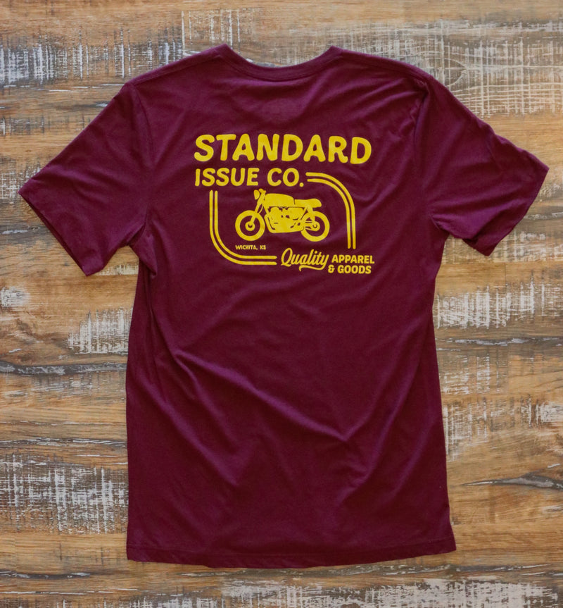 Standard Issue Co.- Quality Shop T- Maroon