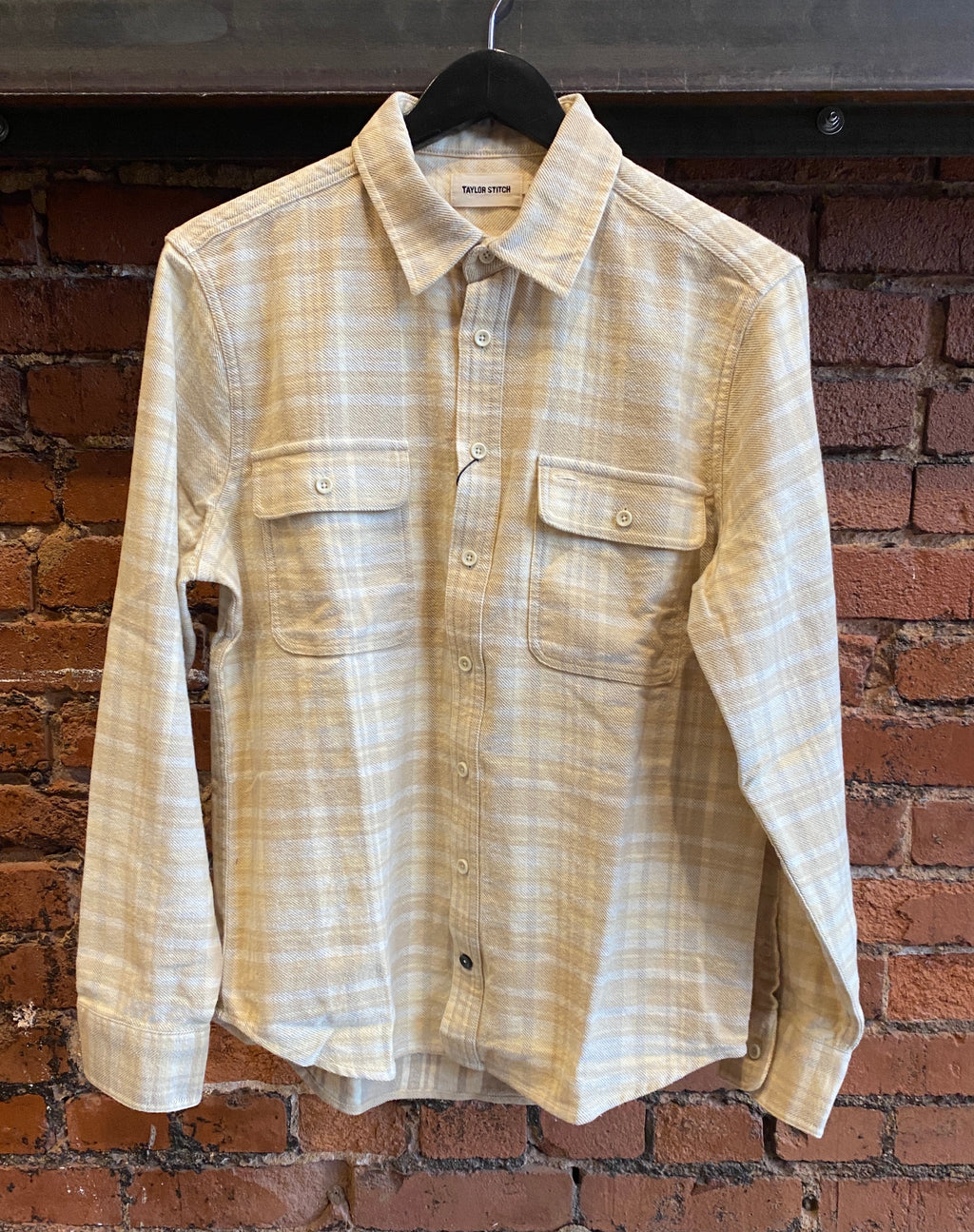 Taylor Stitch- The Ledge Shirt in Sand Plaid