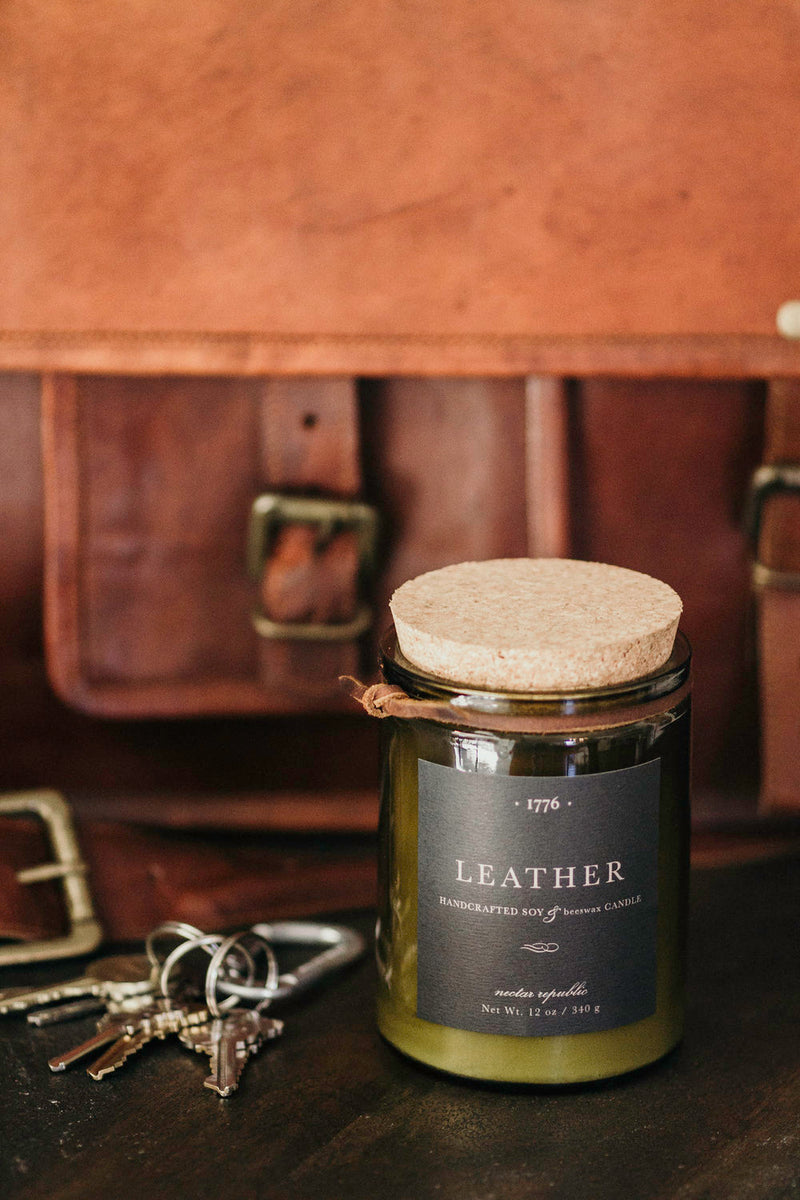 Nectar Republic- 1776 Candle- Leather