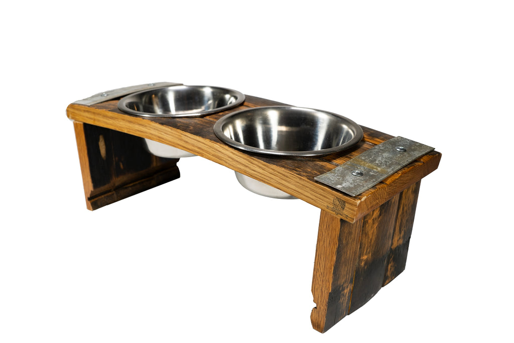 MilWorks Whiskey Barrel Dog/Cat Feeder