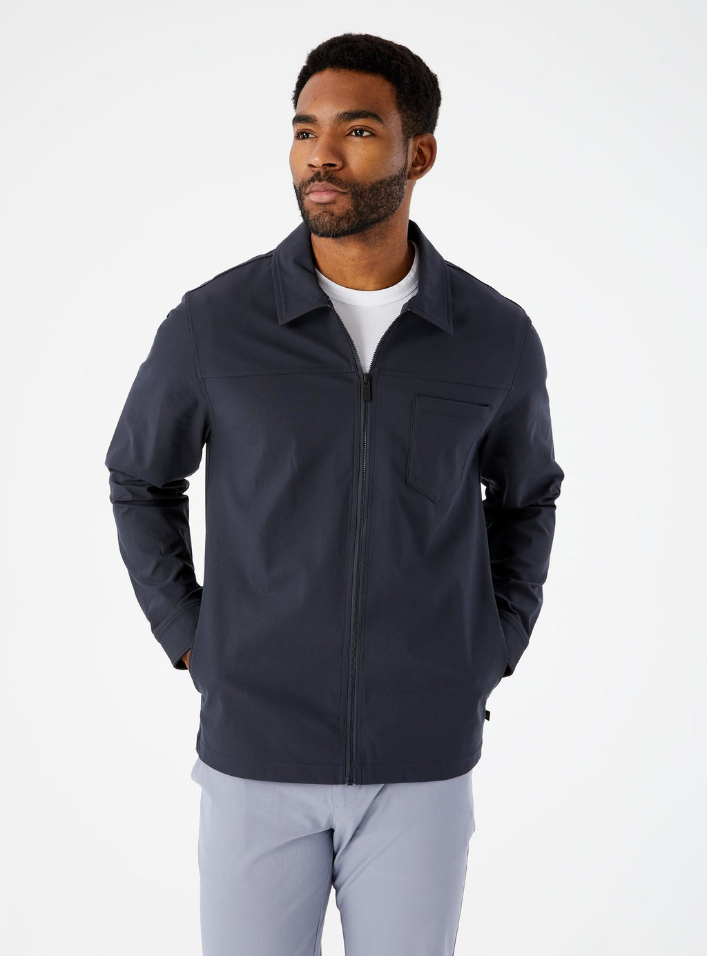 7 Diamonds- 4 Way Stretch Jacket- Charcoal