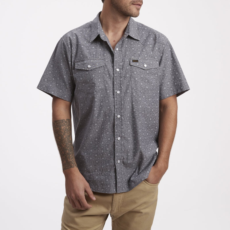 Howler Brothers H Bar B Snapshirt- Little Agave Night Blue Oxford