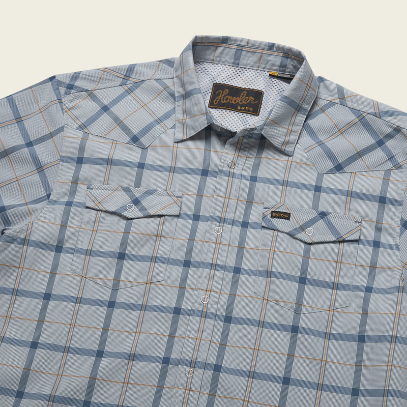 Howler Brothers- Portella Plaid- Pigeon Grey