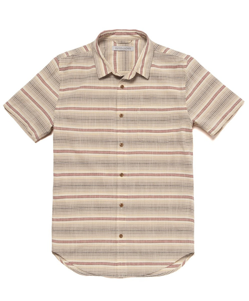 Outerknown-Sea Shirt- Sunset Solstice Stripe