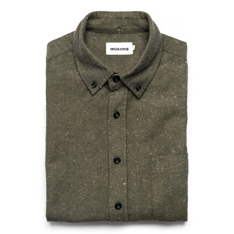 Taylor Stitch- Jack Shirt- Olive Chambray