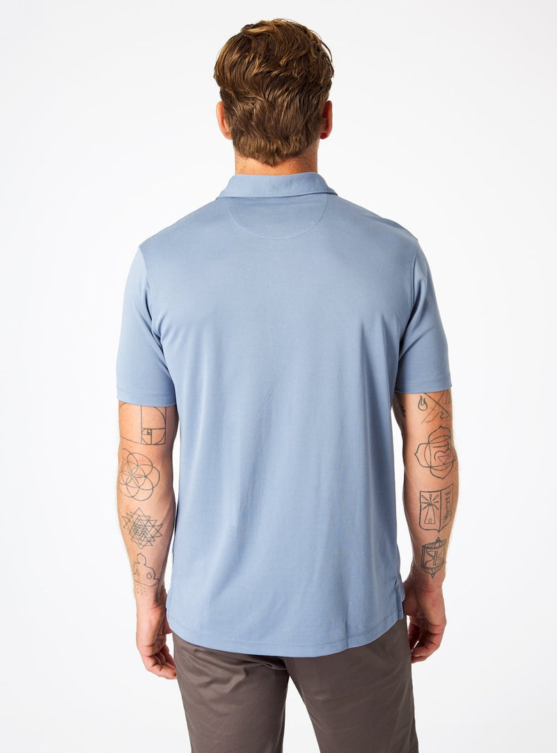 7 Diamonds- Walker Polo- Dusty Blue