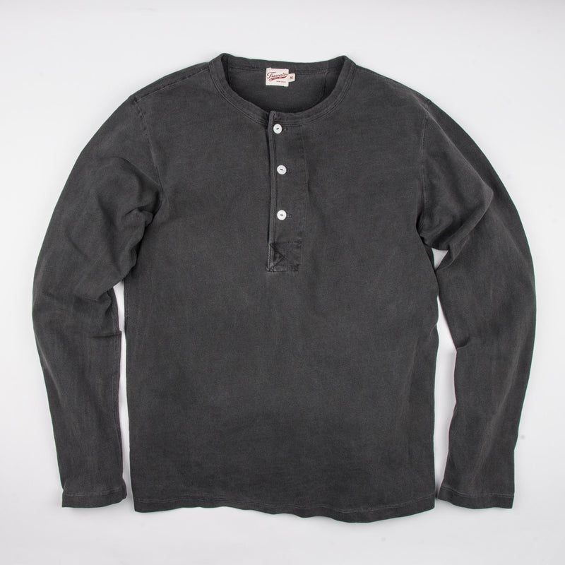Freenote Cloth 13 Ounce Henley- Midnight