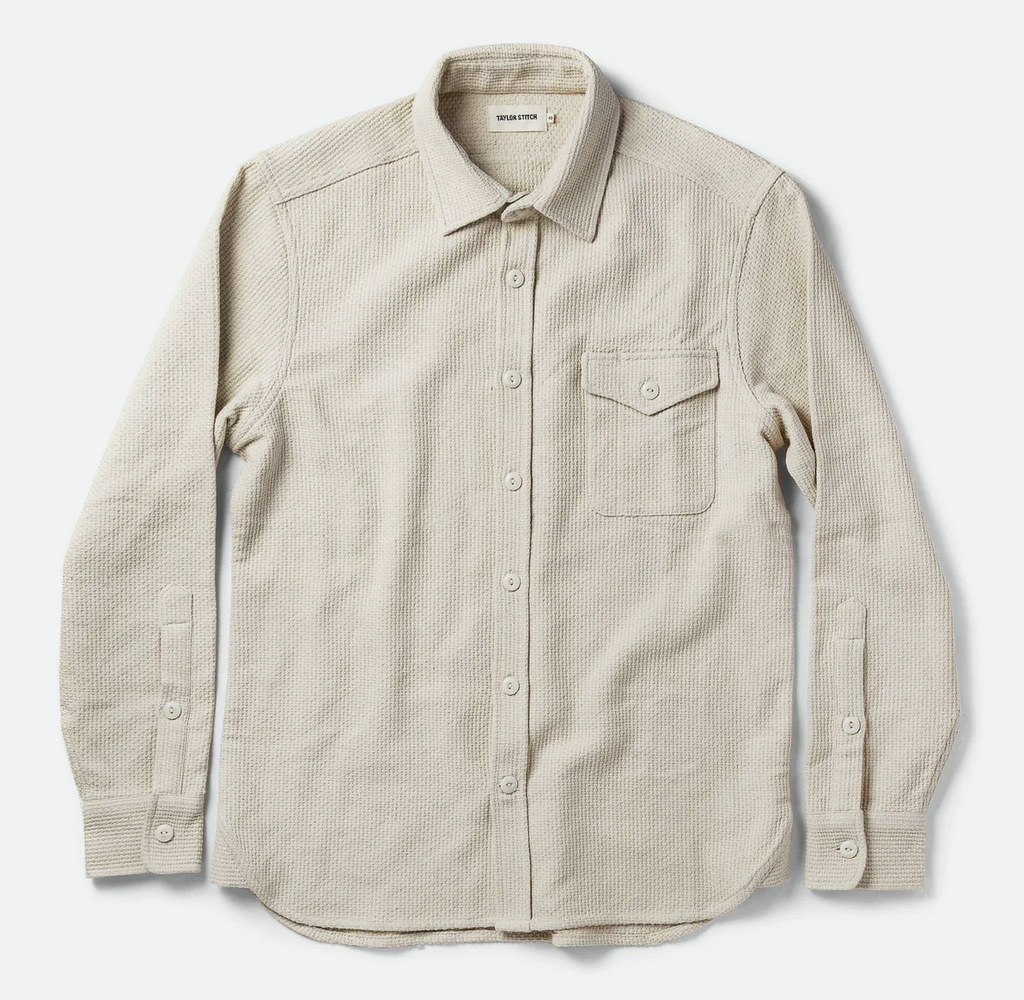 Taylor Stitch- The Cash Shirt in Natural Sashiko