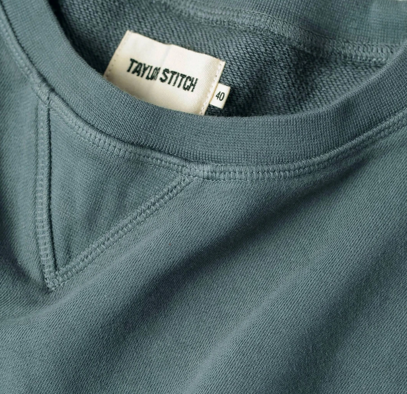 Taylor Stitch- The Crewneck in Sea Green Terry