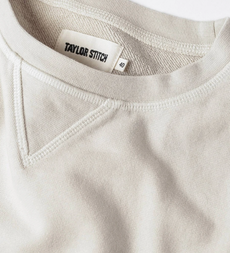 Taylor Stitch- The Crewneck in Aluminum Terry