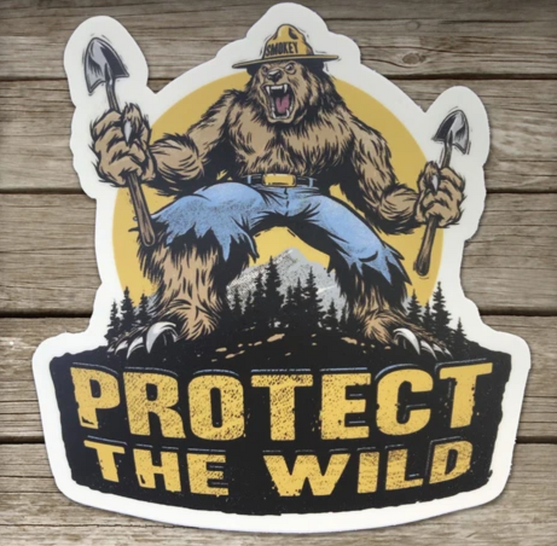Trail Threads- Protect The Wild Sticker