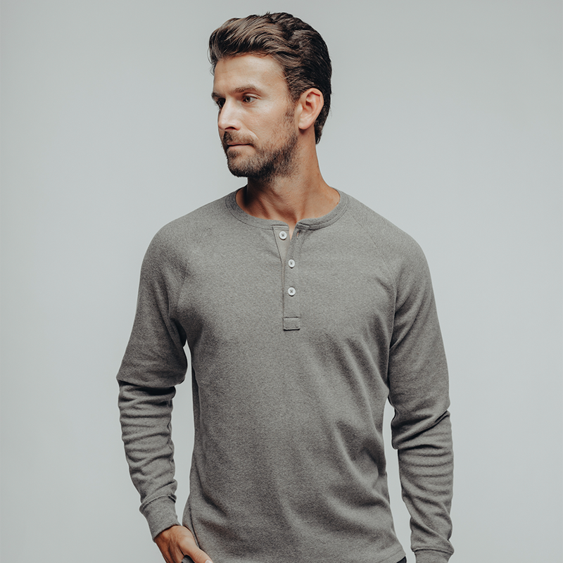 The Normal Brand- Puremeso Henley Grey