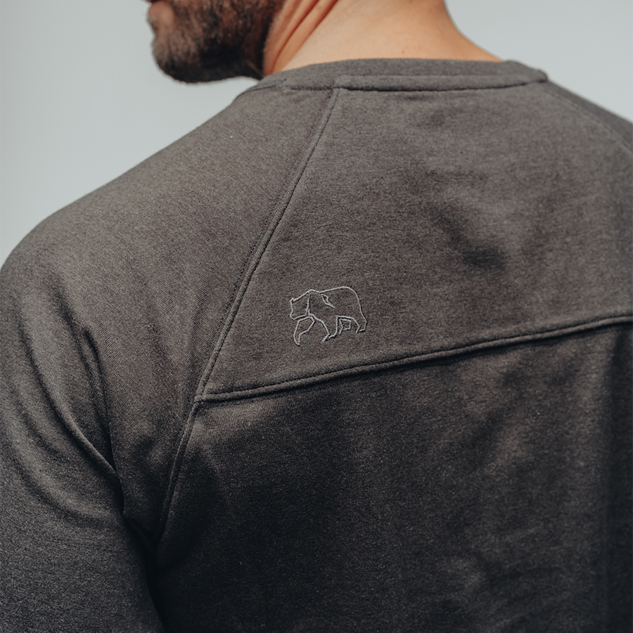 The Normal Brand- Puremeso Henley- Charcoal