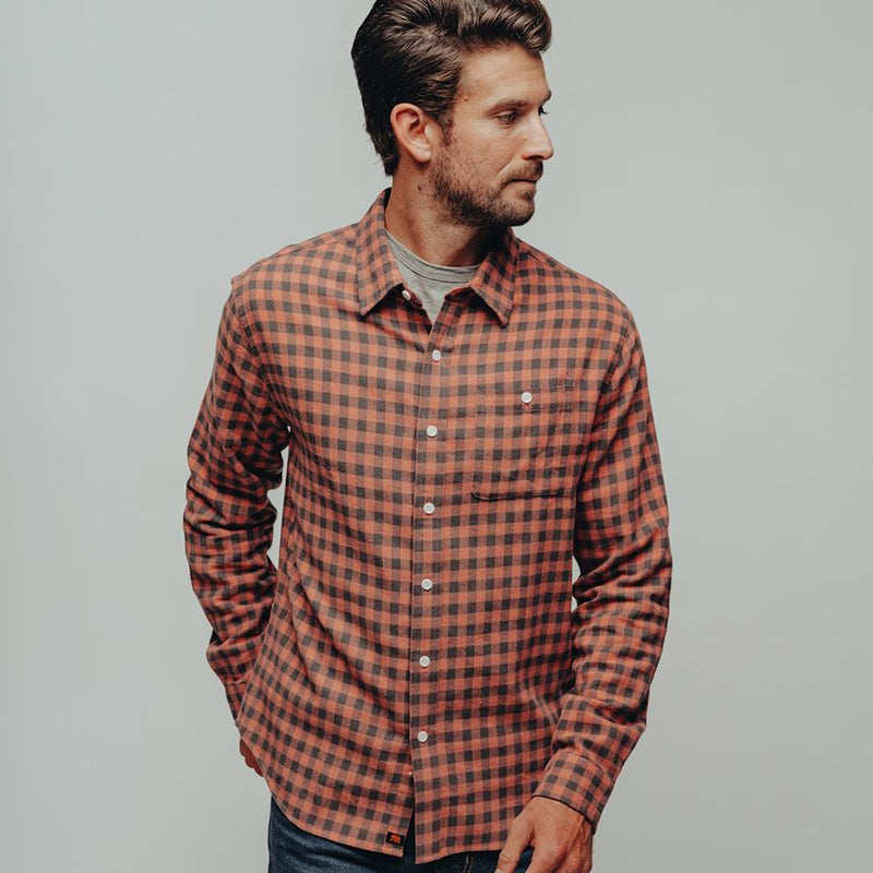 The Normal Brand- Stephen Button Up- Red Plaid