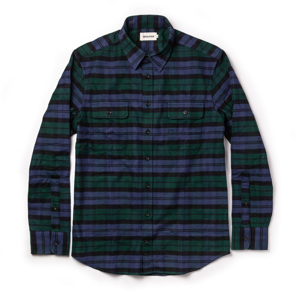 Taylor Stitch- Yosemite Shirt- Blackwatch Plaid