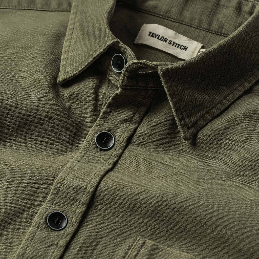 Taylor Stitch Mechanic Shirt- Olive Reverse Sateen