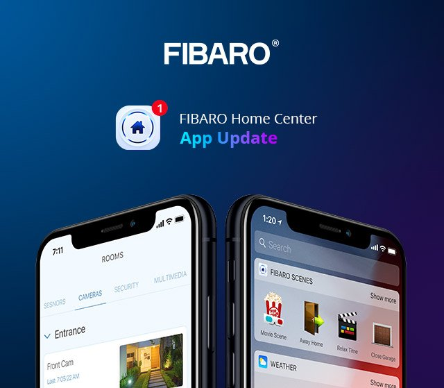 FIBARO Home Center App 1.1.0 Update