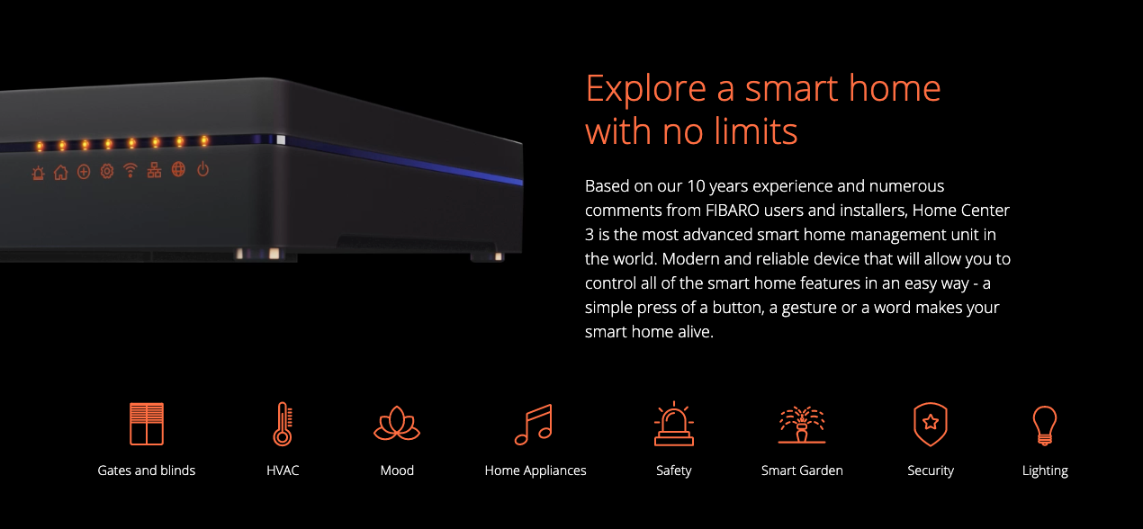 FIBARO Home Center 3 - Explore a smart home with no limits