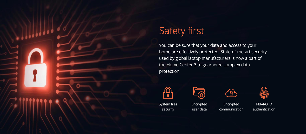 FIBARO Home Center 3 - Safety first