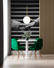 dinning room accent wall | photo of couples holding hands wall mural