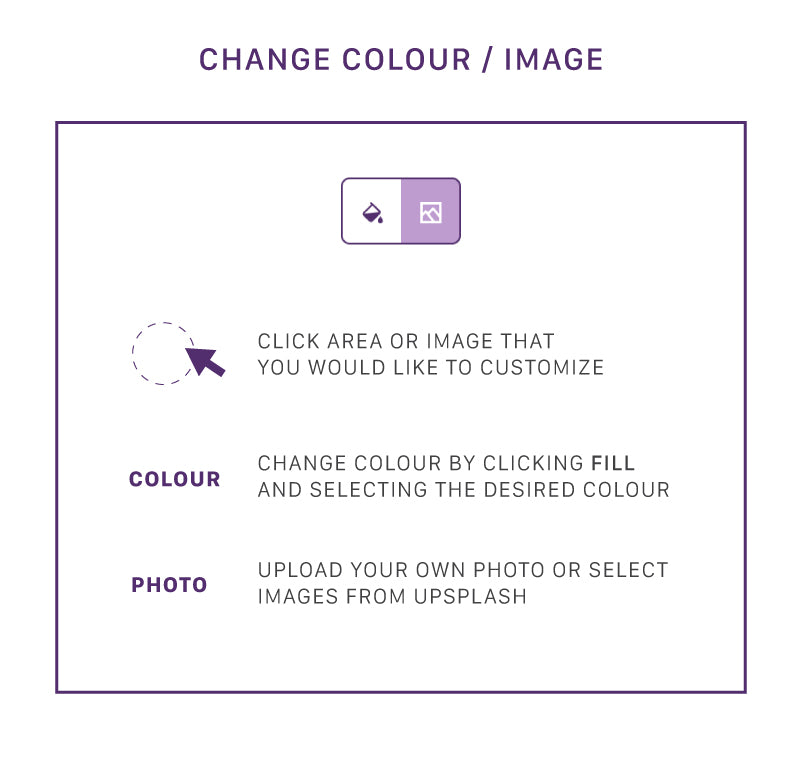 Replace background colors or images to fit your need