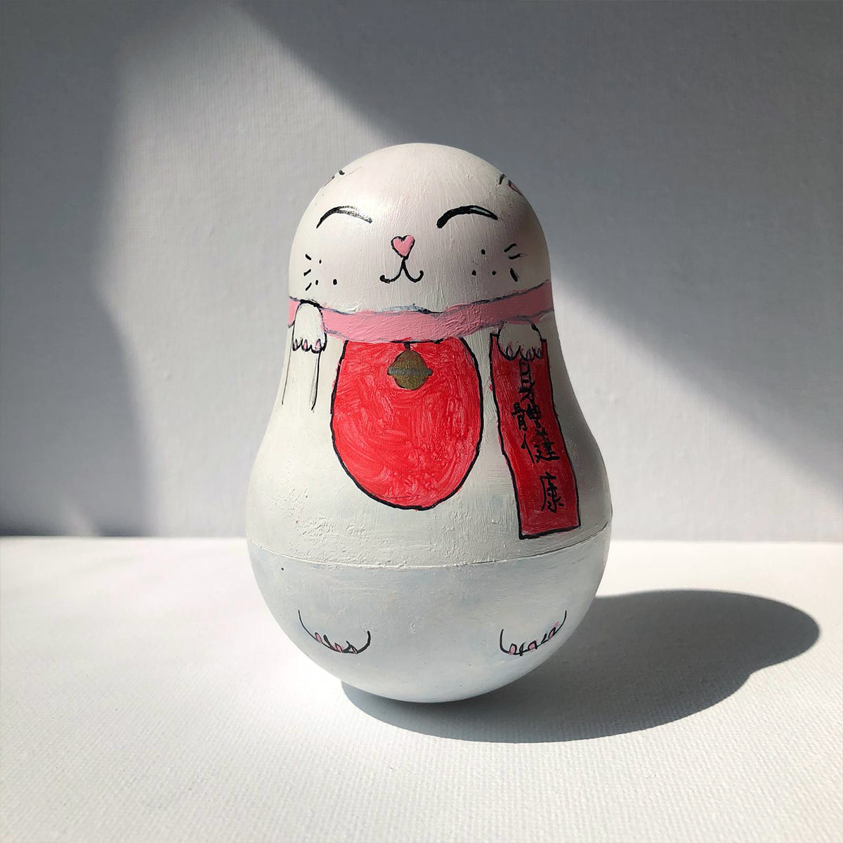 Cat Russian Doll Painted By Elise Pui