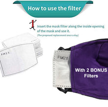 Load image into Gallery viewer, All our face mask come with filter pocket for easy insert and improved protection.