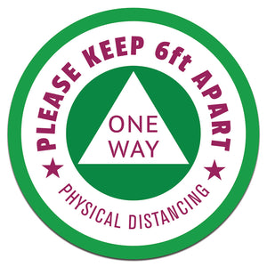 OneWay-Physical Distancing Floor Decals | 10""