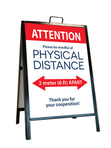 Physical Distancing Coroplast Signs | 24x32