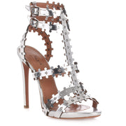 Metallic leather sandal