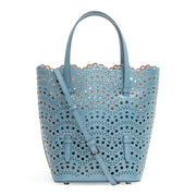Light blue laser cut tote bag