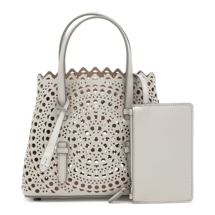 Mina mini light grey bag